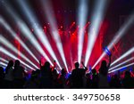 stage spotlight with laser rays | Shutterstock . vector #349750658