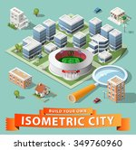 build your own isometric city.... | Shutterstock .eps vector #349760960