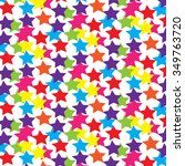 mix color stars pattern  vector ... | Shutterstock .eps vector #349763720