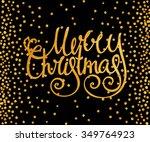 gold textured handwritten... | Shutterstock . vector #349764923
