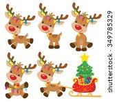 christmas reindeer vector... | Shutterstock .eps vector #349785329