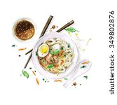 Pho Soup   Watercolor Food...