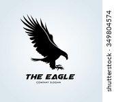 eagle logo   Shutterstock .eps vector #349804574