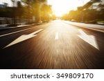 sunlight and empty asphalt road ... | Shutterstock . vector #349809170