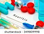 neuritis   diagnosis written on ... | Shutterstock . vector #349809998