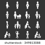 family symbol for web icons | Shutterstock .eps vector #349813088
