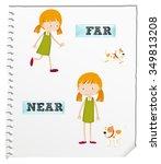 opposite adjectives far and... | Shutterstock .eps vector #349813208