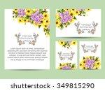 vintage delicate invitation... | Shutterstock . vector #349815290