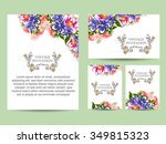 vintage delicate invitation... | Shutterstock . vector #349815323