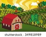 farmhouse | Shutterstock .eps vector #349818989
