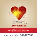 romantic geometrical heart...   Shutterstock .eps vector #349827500