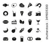 food glyph icons vector set.... | Shutterstock .eps vector #349835300