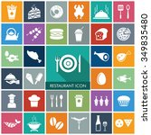vector food icon set. | Shutterstock .eps vector #349835480