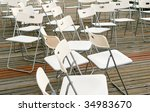 White Chairs - stock photo