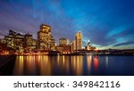 ferry building and embarcadero... | Shutterstock . vector #349842116