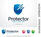 protector logo template design... | Shutterstock .eps vector #349843244