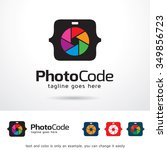 photo code logo template design ... | Shutterstock .eps vector #349856723