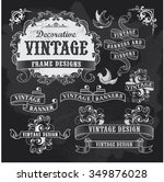 hand drawn blackboard banner... | Shutterstock .eps vector #349876028
