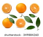 Set Of Whole And Halved Orange...