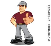 Cartoon Mechanic Handyman...