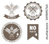 Set Of Four Labels   No Palm...