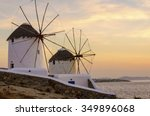 Two Windmills In Chora Mykonos...