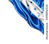 honduras   flag of silk with... | Shutterstock . vector #349896524