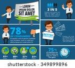 vector infographic template... | Shutterstock .eps vector #349899896