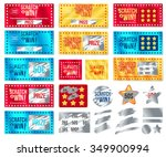 ticket collection scratch and... | Shutterstock .eps vector #349900994