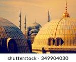 Blue Mosque With Minarets  Vie...