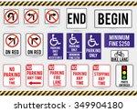 American Traffic Signs. Vector...
