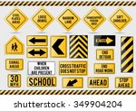 American Traffic Signs. Vector...
