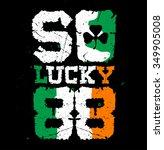 so lucky 88 print | Shutterstock .eps vector #349905008