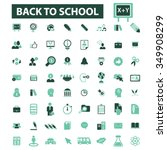 back to school  teacher ... | Shutterstock .eps vector #349908299