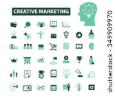 creative marketing  icons ... | Shutterstock .eps vector #349909970