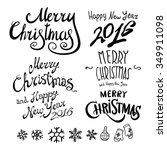 christmas retro icons  elements ... | Shutterstock .eps vector #349911098
