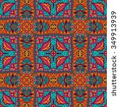 seamless vector colorful... | Shutterstock .eps vector #349913939