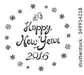 happy new 2016 year. holiday... | Shutterstock .eps vector #349914218