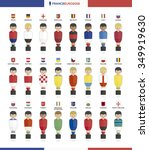 players with flags of european... | Shutterstock .eps vector #349919630