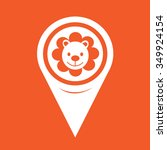 map pin pointer lion icon