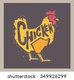 vector chicken illustration... | Shutterstock .eps vector #349926299