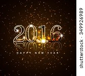 new year 2016 card with glitters | Shutterstock .eps vector #349926989