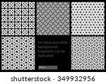 set black and white vector... | Shutterstock .eps vector #349932956