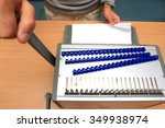 binding equipment at office. | Shutterstock . vector #349938974