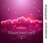 happy valentine's day message ...   Shutterstock .eps vector #349939016