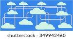 cloud computing technology...   Shutterstock .eps vector #349942460