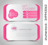 gift card voucher. business... | Shutterstock .eps vector #349943063