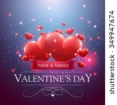 valentine's day message ... | Shutterstock .eps vector #349947674