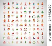 christmas icons and elements... | Shutterstock .eps vector #349952630