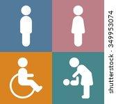 vector toilet sign  flat design | Shutterstock .eps vector #349953074
